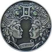 Belarus 20 Roubles Gemini 2014 Proof KM# 484 GEMINI coin reverse