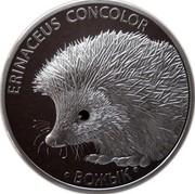 Belarus 20 Roubles Hedgehog 2011 Proof KM# 381 ERINACEUS CONCOLOR ВОЖЫК coin reverse