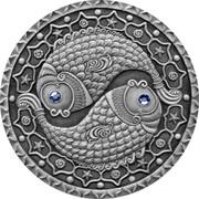 Belarus 20 Roubles Pisces 2009 Matte Proof KM# 203 coin reverse