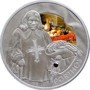Belarus 20 Roubles Porthos 2009 Antique finish KM# 245 PORTHOS coin reverse