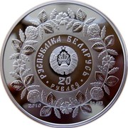 Belarus 20 Roubles Smith Craft 2010 Proof KM# 376 РЭСПУБЛІКА БЕЛАРУСЬ 20 РУБЛЁЎ 2010 AG 925 coin obverse