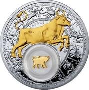 Belarus 20 Roubles Taurus 2013 Proof KM# 513 TAURUS coin reverse