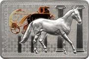 Belarus 20 Roubles The Akhal Teke 2011 Proof KM# 383 АХАЛТЭКІНСКІ КОНЬ coin reverse