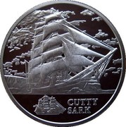Belarus 20 Roubles The Cutty Sark 2011 Proof KM# 271 CUTTY SARK coin reverse