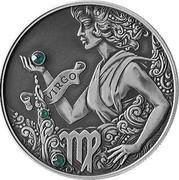 Belarus 20 Roubles Virgo 2015 Proof KM# 497 VIRGO coin reverse