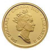 Canada 200 Dollars Lionel LeMoine Fitzgerald - Houses 2003 Proof KM# 488 200 DOLLARS ∙ CANADA 2003 ∙ ELIZABETH II coin obverse