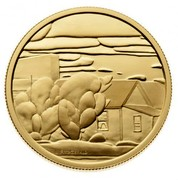 Canada 200 Dollars Lionel LeMoine Fitzgerald - Houses 2003 Proof KM# 488 FITZGERALD coin reverse