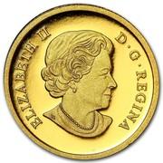 Canada 25 Dollars An Allegory 2013 Proof KM# 1483 ELIZABETH II D • G • REGINA coin obverse