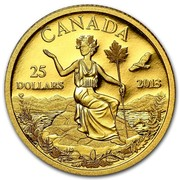 Canada 25 Dollars An Allegory 2013 Proof KM# 1483 CANADA 25 DOLLARS 2013 coin reverse