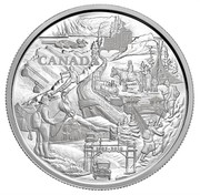 Canada 250 Dollars Banff National Park 2010 Proof KM# 1044 CANADA 1885-2010 TB coin reverse