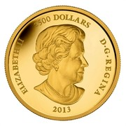 Canada 2500 Dollars 250th Anniversary of the end of the Seven Years War 2013 Proof KM# 1370 ELIZABETH II 2500 DOLLARS D∙G∙REGINA 2013 coin obverse