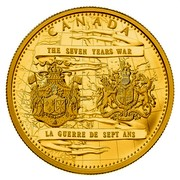 Canada 2500 Dollars 250th Anniversary of the end of the Seven Years War 2013 Proof KM# 1370 CANADA THE SEVEN YEARS WAR LA GUERRE DE SEPT ANS coin reverse