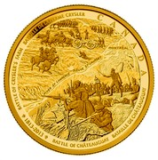 Canada 2500 Dollars Battle of Chateauguay and Battle of Crysler 2013 Proof KM# 1478 BATTLE OF CHATEAUGUAY BATAILLE DE CHATEAUGUAY 1813-2013 BATTLE OF CRYSLER'S BATAILLE DE LA FERME CRYSLER CANADA coin reverse