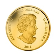 Canada 2500 Dollars Lacrosse Game 2011 KM# 1197 ELIZABETH II 2500 DOLLARS D G REGINA 2011 SB coin obverse