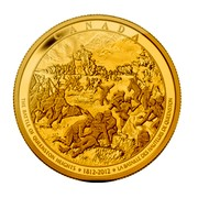 Canada 2500 Dollars The War of 1812 - The Battle of Queenston Heights 2012 Proof KM# 1339 CANADA THE BATTLE OF QUEENSTON HEIGHTS 1812-2012 LA BATAILLE DES HAUTEURS DE QUEENSTON coin reverse