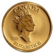 Canada 3 Cents Elizabeth II Postage Stamp 2001 Proof KM# 410 CANADA 2001 ELIZABETH II coin obverse