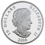 Canada 30 Dollars Beaumont 2006 Proof KM# 670 30 DOLLARS ELIZABETH II SB 2006 coin obverse