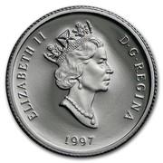 Canada 30 Dollars Bison 1997 Proof KM# 300 ELIZABETH II D G REGINA 1997 coin obverse