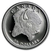 Canada 30 Dollars Bison 1997 Proof KM# 300 CANADA 30 DOLLARS CB coin reverse