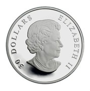 Canada 30 Dollars Canadian National Vimy Memorial 2007 Proof KM# 741 30 DOLLARS ELIZABETH II coin obverse