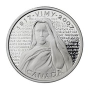 Canada 30 Dollars Canadian National Vimy Memorial 2007 Proof KM# 741 1917-VIMY-2007 CANADA coin reverse