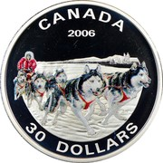 Canada 30 Dollars Canadian North 2006 Proof KM# 671 CANADA 2006 AN 30 DOLLARS coin reverse