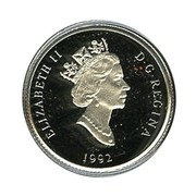 Canada 30 Dollars Cougar 1992 Proof KM# 226 ELIZABETH II D ∙ G ∙ REGINA 1992 coin obverse