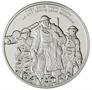 Canada 30 Dollars National War Memorial 2006 Proof KM# 669 THEY GAVE THEIR YOUTH ILS ONT DONNÉ LEUR JEUNESSE CANADA coin reverse