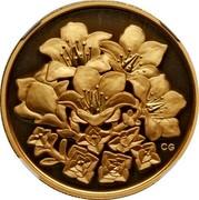 Canada 350 Dollars Nunavut Purple Saxifrage 2008 Proof KM# 832 CG coin reverse
