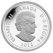 Canada 4 Dollars War of 1812 - Tecumseh 2012 Proof KM# 1325 ELIZABETH II CANADA D∙G∙REGINA 2012 coin obverse