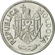 Moldova 5 Bani 1993 KM# 2 Decimal Coinage REPUBLICA MOLDOVA coin obverse
