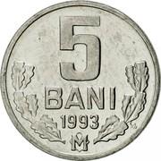 Moldova 5 Bani 1993 KM# 2 Decimal Coinage 5 BANI 1996 coin reverse