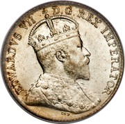 Canada 5 Cents Edward VII 1903 KM# 7 EDWARD VII D.G.REX IMPERATOR coin obverse
