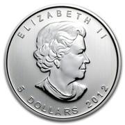 Canada 5 Dollars Cougar 2012 KM# 1164 ELIZABETH II 5 DOLLARS 2012 coin obverse