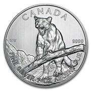 Canada 5 Dollars Cougar 2012 KM# 1164 CANADA WW 9999 FINE SILVER 1 OZ ARGENT PUR coin reverse