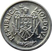Moldova 50 Bani 1993 KM# 4 Decimal Coinage REPUBLICA MOLDOVA coin obverse