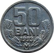 Moldova 50 Bani 1993 KM# 4 Decimal Coinage 50 BANI 1993 M coin reverse