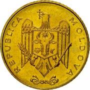 Moldova 50 Bani 1997 KM# 10 Decimal Coinage REPUBLICA MOLDOVA coin obverse