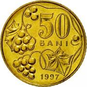 Moldova 50 Bani 1997 KM# 10 Decimal Coinage 50 BANI 2003 coin reverse