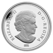 Canada 50 Cents Canadian Tiger Swallowtail - Butterflies of Canada 2013 Proof KM# 1435 ELIZABETH II D∙G∙REGINA SP/PA coin obverse