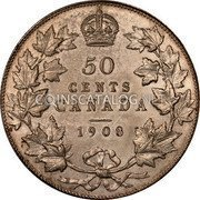 Canada 50 Cents Edward VII 1908 KM# 12 50 CENTS CANADA coin reverse