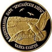 "Belarus 50 Roubles Braslaw Lakes National Park. Herring Gull 2006 Proof KM# 123 НАЦЫЯНАЛЬНЫ ПАРК ""БРАСЛАЎСКІЯ АЗЁРЫ"" ЧАЙКА КЛЫГУН coin reverse"