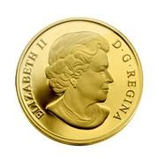 Canada 500 Dollars Canada's First Gold Coins 2010 Proof KM# 1007 ELIZABETH II D ∙ G ∙ REGINA coin obverse