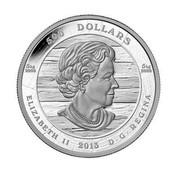 Canada 500 Dollars EMILY CARR 2013 Proof KM# 1538 500 DOLLARS 5 KG 9999 5 KG 9999 ELIZABETH II 2013 D ∙ G ∙ REGINA coin obverse