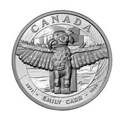 Canada 500 Dollars EMILY CARR 2013 Proof KM# 1538 CANADA 1871 - EMILY CARR - 1945 coin reverse