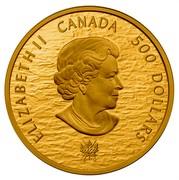 Canada 500 Dollars HMS Shannon & USS Chesapeake 2013 Proof KM# 1431 ELIZABETH II D ∙ G ∙ REGINA 500 DOLLARS SB coin obverse