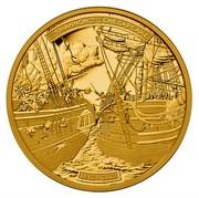 Canada 500 Dollars HMS Shannon & USS Chesapeake 2013 Proof KM# 1431 THE LE SHANNON AND ET THE LE CHESAPEAKE 1813 - 2013 coin reverse