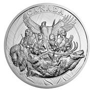Canada 500 Dollars National Aboriginal Veterans Monument 2014 Proof KM# 1766 CANADA NLP coin reverse