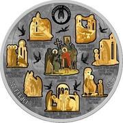 Belarus 500 Roubles St. Sergius Hegumen of Radonezh 2014 Proof KM# 469 РЭСПУБЛІКА БЕЛАРУСЬ 500 РУБЛЁЎ AG 925 2014 coin obverse