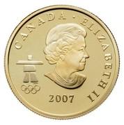 Canada 75 Dollars Olympics Athletes Pride 2007 Proof KM# 747 CANADA ∙ ELIZABETH II 2007 coin obverse